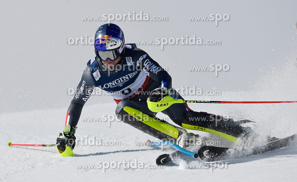 13.02.2017, St. Moritz, SUI, FIS Weltmeisterschaften Ski Alpin, St. Moritz 2017, alpine Kombination, Herren, Slalom, im Bild Alexis Pinturault (FRA) // Alexis Pinturault of France in action during his run of Slalom competition for the men's Alpine combination of the FIS Ski World Championships 2017. St. Moritz, Switzerland on 2017/02/13. EXPA Pictures &copy; 2017, PhotoCredit: EXPA/ Sammy Minkoff<br /> <br /> *****ATTENTION - OUT of GER*****
