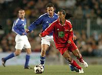 Fotball<br /> Veldedighetskamp for ofrene etter tsunamien i Asia<br /> Football for hope<br /> 15. februar 2005<br /> Nou Camp - Barcelona<br /> Foto: Digitalsport<br /> NORWAY ONLY<br /> RONALDINHO (RON) / ALESSANDRO DEL PIERO (CHE)