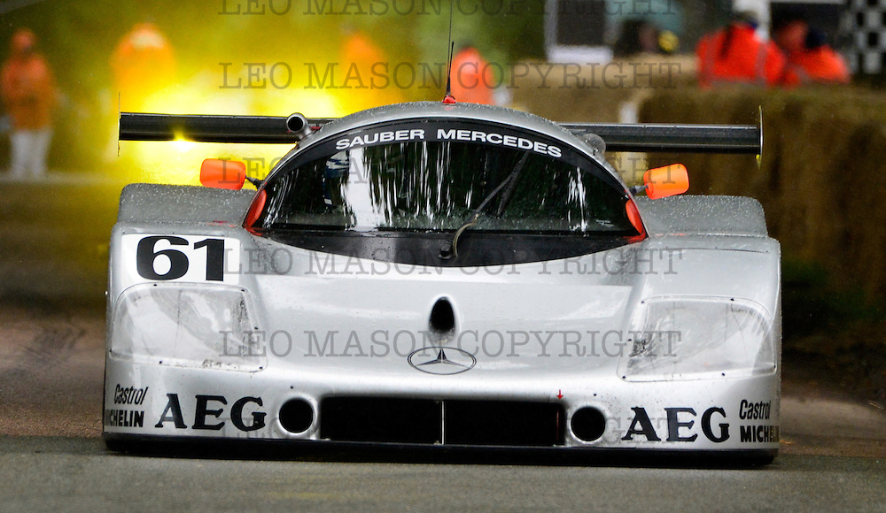 26.06.2016 The Goodwood Festival of Speed - Day 2  Goodwood UK Class: Americana, Can Am, Group Racers, Modern GT's Sports Race Sauber Mercedes C9 driver Jochen Mass<br /> <br /> Media Event ID: 647946759