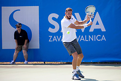 Albano Olivetti (FRA) play against Nick Cmager (SLO) at ATP Challenger Zavarovalnica Sava Slovenia Open 2018, on August 4, 2018 in Sports centre, Portoroz/Portorose, Slovenia. Photo by Urban Urbanc / Sportida