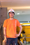 Kone Cranes Electric Site Supervisor PU Jian poses for a photograph in Oji Paper Factory, in Nantong, Jiangsu province, China, on May 25, 2010. Photo by Lucas Schifres/Pictobank