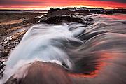 Sunset in Thingvellir National Park, southwest Iceland