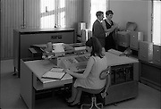 03/01/1969.01/03/1969.03 January 1969.NCR computer at Irish Permanent Building Society 12 Lower O'Connell Street, Dublin. Special for Mr. Cyril Moore of the National Cash Register Company.