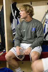 18 May 2008: Duke Blue Devils midfielder Brad Ross (10) before a 21-10 win over the Ohio State Buckeyes during the NCAA quarterfinals held at Cornell University in Ithaca, NY.