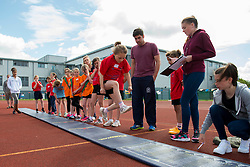 A girl participates in the long jump during the Bristol Sport Youth Festival - Photo mandatory by-line: Dougie Allward/JMP - Mobile: 07966 386802 - 06/06/2015 - SPORT - Multi-Sport - Bristol - SGS Wise Campus - Bristol Sport Festival Of Youth Sport - Festival Of Youth