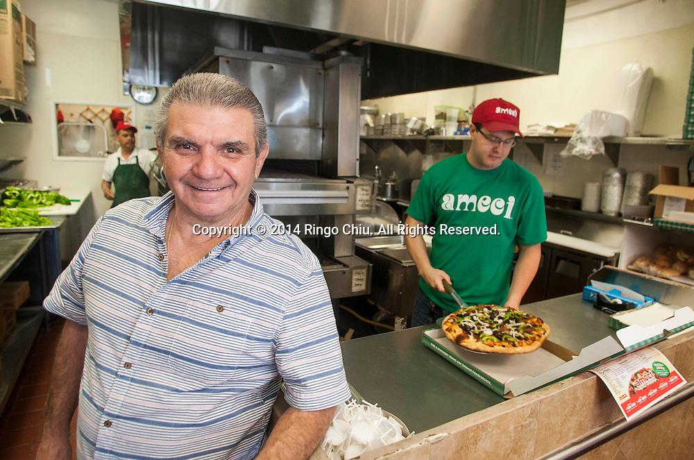 Nick Andrisano, president of Ameci Pizza &amp; Pasta, in West Hill, California<br /> (Photo by Ringo Chiu/PHOTOFORMULA.com)