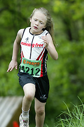 """(Kingston, Ontario---16/05/09) """"Jayden Sparks running in the kids race at the 2009 Salomon 5 Peaks Trail Running series Race held in Kingston, Ontario as part of the Eastern Ontario/Quebec division. """"  Copyright photograph Sean Burges / Mundo Sport Images, 2009. www.mundosportimages.com / www.msievents.com."""