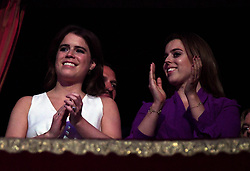 Princess Beatrice (right) and Princess Eugenie at the Royal Albert Hall in London for a star-studded concert to celebrate the Queen's 92nd birthday.