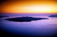 Nea Kameni off the island of Santorini, the Cyclades, Greece