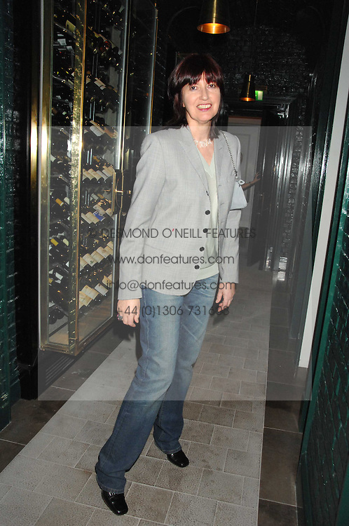 JANET STREET-PORTER at a party to promote The Landau at The Langham, Portland Place, London W1 on 7th February 2008.<br />