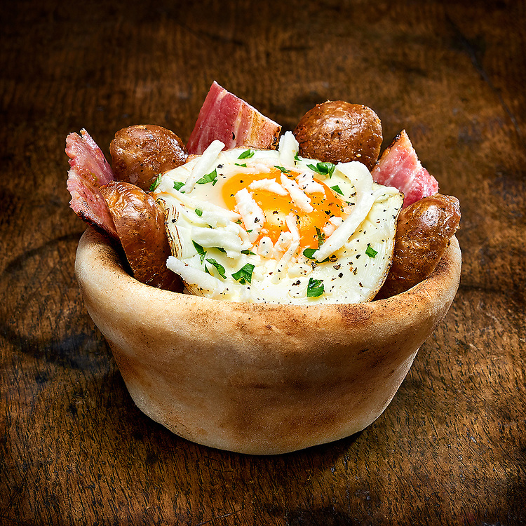 Breakfast Cone with Egg, Sausage and Bacon