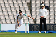 Ian Holland of Hampshire bowling during the Specsavers County Champ Div 1 match between Hampshire County Cricket Club and Surrey County Cricket Club at the Ageas Bowl, Southampton, United Kingdom on 6 September 2017. Photo by Graham Hunt.
