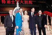"SHANGHAI, CHINA - FEBRUARY 27: <br /> <br />  (L-R) American director Bill Condon, British actor Dan Stevens, British actress Emma Watson, Welsh actor and singer Luke Evans, American actor and comedian Josh Gad attend the premiere of \'s film ""Beauty and the Beast\"" at Walt Disney Theatre on February 27, 2017 in Shanghai, China. <br /> ©Exclusivepix Media"