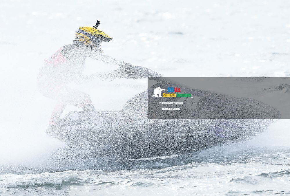 PATTAYA, THAILAND - DECEMBER 09: Masaharu Takenoshita (J70) of Japan and Marine Mechanic in action during the Pro Ski Grandprix Moto4 at the Thai Airways International Jet Ski World Cup 2018, Jomtien Beach, Pattaya, Thailand on December 09, 2018. <br /> .<br /> .<br /> .<br /> (Photo by: Naratip Golf Srisupab/SEALs Sports Images)<br /> .<br /> Any image use must include a mandatory credit line adjacent to the content which should read: Naratip Golf Srisupab/SEALs Sports Images