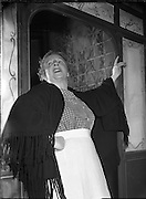 """Special for Abbey Theatre - Scenes from 'The Plough and the Stars' by Sean O'Casey.19/04/1955..The Plough and the Stars is a play by the Irish writer Seán O'Casey first performed on February 8, 1926 by the Abbey Theatre in the writer's native Dublin..It is the third of his well known """"Dublin Trilogy"""" - the other two being The Shadow of a Gunman (1923) and Juno and the Paycock (1924)..The Abbey most recently presented the play from July to September 2010, directed by Wayne Jordan.."""