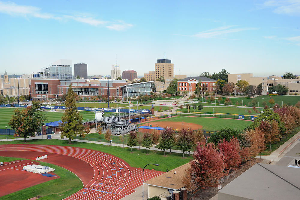 Campus view of The University of Akron