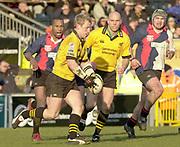 29/02/2004  -  Powergen  Cup - London Wasps v Pertemps Bees .Wasps scrum half, Peter Richards.   [Mandatory Credit, Peter Spurier/ Intersport Images].
