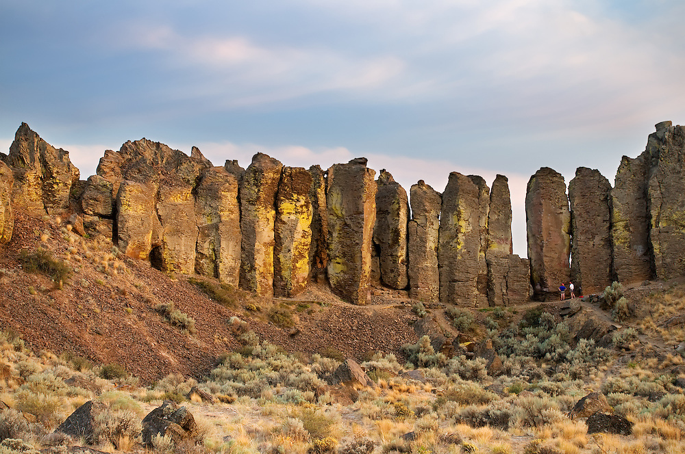 The Feathers rock climbing area in Frenchman Coulee, Washington.