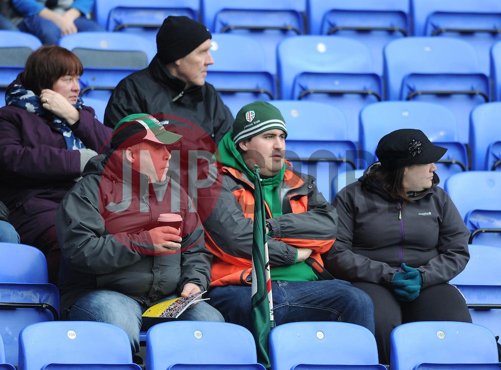 London Irish fans - Photo mandatory by-line: Dougie Allward/JMP - Mobile: 07966 386802 - 11/01/2015 - SPORT - RUGBY - Reading - Madejski Stadium - London Irish v Exeter Chiefs - Aviva Premiership