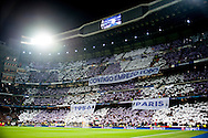 Fans of Real Madrid during the UEFA Champions League match at the Estadio Santiago Bernabeu, Madrid<br /> Picture by Marcos Calvo Mesa/Focus Images Ltd +34 654142934<br /> 03/11/2015
