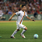 Stefano Pettinari, AS Roma, in action during the Liverpool Vs AS Roma friendly pre season football match at Fenway Park, Boston. USA. 23rd July 2014. Photo Tim Clayton