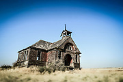 Old schoolhouse in Govan, Washington.