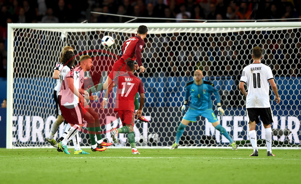 Cristiano Ronaldo of Portugal sees his header ruled out for off side  - Mandatory by-line: Joe Meredith/JMP - 18/06/2016 - FOOTBALL - Parc des Princes - Paris, France - Portugal v Austria - UEFA European Championship Group F