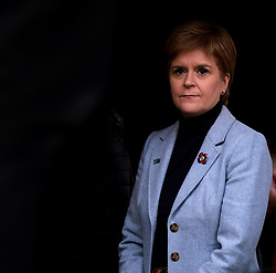 Independence Rally, Glasgow, Saturday 2nd November 2019<br /> <br /> Pictured: Nicola Sturgeon waits backstage to make her speech<br /> <br /> Alex Todd | Edinburgh Elite media