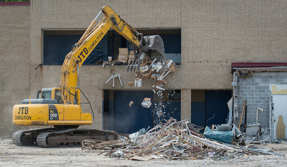 Milby High School demolition, August 26, 2014.