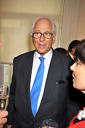 SIR EVELYN DE ROTHSCHILD at a party to launch the Indian Head Injury Foundation held at Thomas Gibson Fine Art Ltd. 31 Bruton Street, London on 16th June 2009