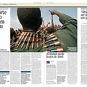 "Tearsheet of ""Sudan and South Sudan War"" (feature story) published in Expresso"