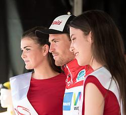 05.07.2017, Altheim, AUT, Ö-Tour, Österreich Radrundfahrt 2017, 3. Etappe von Wieselburg nach Altheim (226,2km), Siegerehrung, im Bild Stephan Rabitsch (AUT, Team Felbermayr Simplon Wels) // Stephan Rabitsch of Austria (Team Felbermayr Simplon Wels) on podium during the 3rd stage from Wieselburg to Altheim (199,6km) of 2017 Tour of Austria. Altheim, Austria on 2017/07/05. EXPA Pictures © 2017, PhotoCredit: EXPA/ Reinhard Eisenbauer