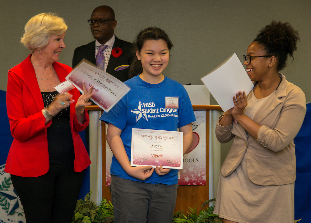 The Volunteers in Public Schools awards ceremony, May 12, 2016.