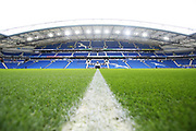 General View inside the American Express Community Stadium ahead of the Premier League match between Brighton and Hove Albion and Crystal Palace at the American Express Community Stadium, Brighton and Hove, England on 29 February 2020.