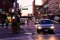 Evening street scene in the Meatpacking District, Manhattan  New York October 2008