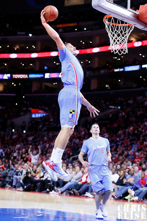 02 November 2014: Los Angeles Clippers forward Blake Griffin (32) goes for the dunk during the Sacramento Kings 98-92 victory over the Los Angeles Clippers, at the Staples Center, Los Angeles, California, USA.