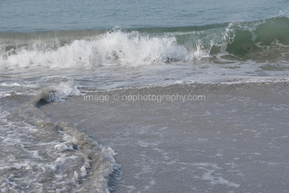 Wave in motion on aran island beach