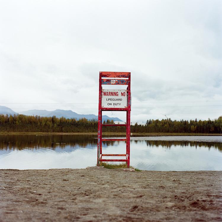 ANCHORAGE, ALASKA - 2011: Goose Lake.