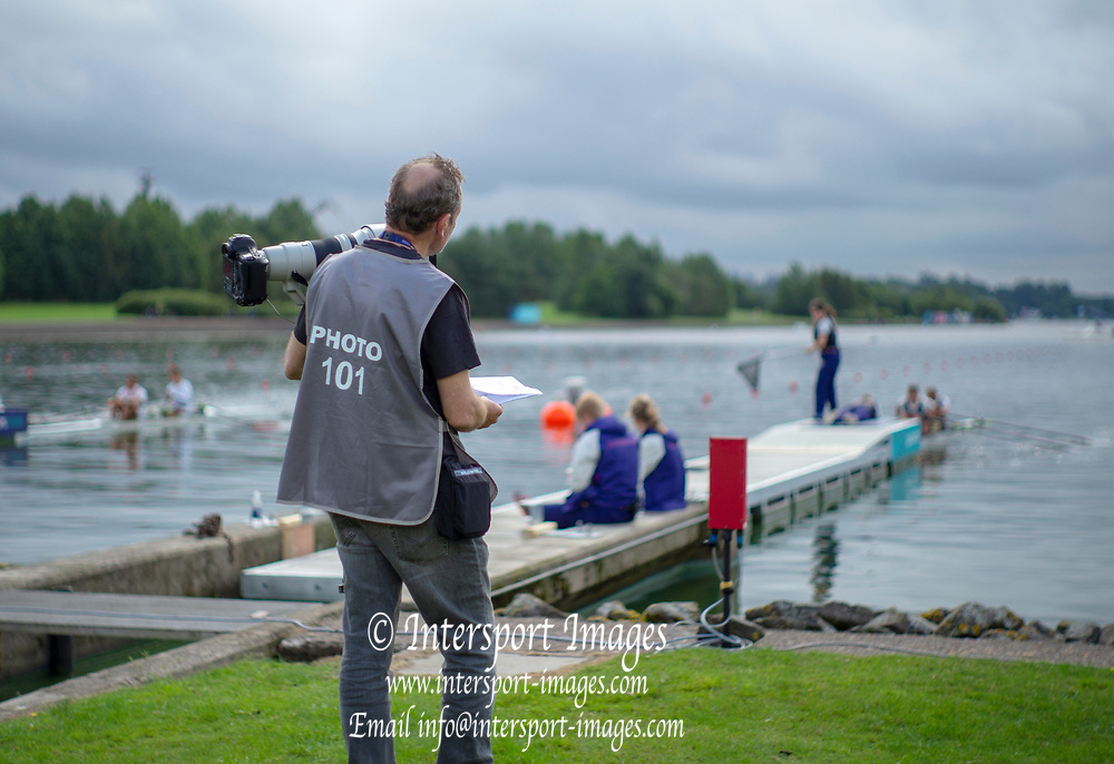 Glasgow, Scotland, Friday, 3rd  August 2018, Media Photography ,  European Games, Rowing, Strathclyde Park, North Lanarkshire, © Peter SPURRIER/Alamy Live News