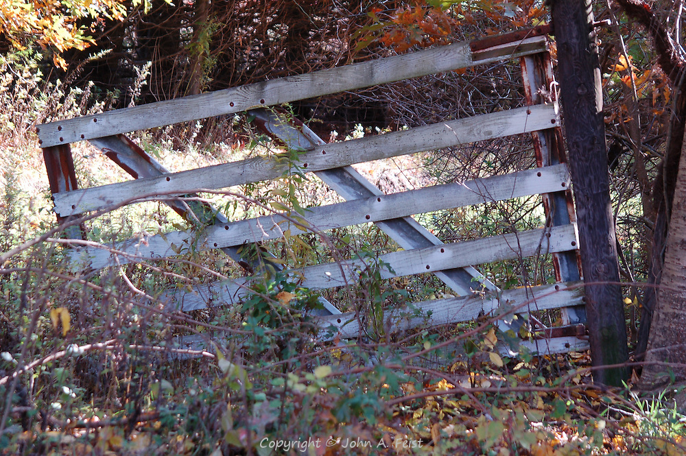 An old gate, no longer used at the Princeton Nursery, Princeton, NJ