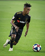 LAFC forward Latif Blessing (7) in action during an MLS soccer match against FC Dallas in Los Angeles, Thursday, May 16, 2019. LAFC defeated FC Dallas 2-0.  (Ed Ruvalcaba/Image of Sport)
