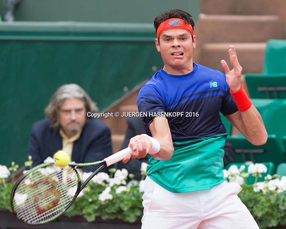 Milos Raonic (CAN)<br /> <br /> Tennis - French Open 2016 - Grand Slam ITF / ATP / WTA -  Roland Garros - Paris -  - France  - 29 May 2016.