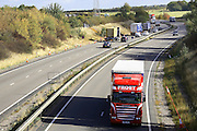 A14 trunk road that runs from the junction of the M6/M1 near rugby to the east Coast port of Felixstowe