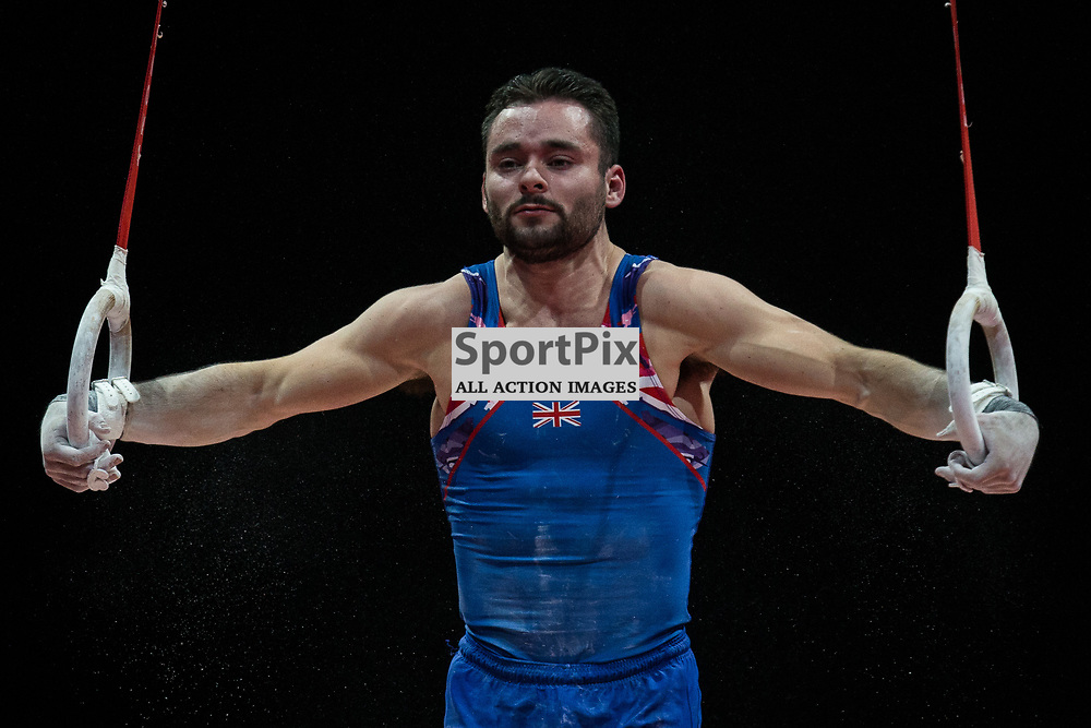 James Hall of Great Britain competes in the Gymnastics Team Men Qualification - 2018 European Championships Glasgow, 9 August 2018. (c) Adam Oliver | sportPix.org.uk