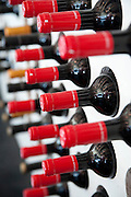 bottles of red wine in a Wine rack