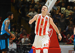 Alen Omic of Crvena Zvezda reacts during basketball match between Crvena Zvezda mts Belgrade and Real Madrid in Round #29 of Euroleague 2017/18, on March 30, 2018 in Hala Pionir, Belgrade, Serbia. Photo by Marko Metlas / Sportida