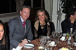 FRANK GARDNER and SUZI BULLOUGH at a dinner in aid of the charity Save The Rhino held at ZSL London Zoo, Regents Park, London NW1 on 16th November 2011.