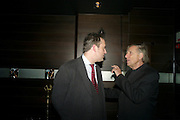JEREMY HERRIN; ARIEL DORFMAN, party after the Press Night of 'Death And The Maiden'  ( which opened at the Harold Pinter Theatre.) Mint Leaf Restaurant & bar. Haymarket. London. 24 October 2011. <br /> <br />  , -DO NOT ARCHIVE-© Copyright Photograph by Dafydd Jones. 248 Clapham Rd. London SW9 0PZ. Tel 0207 820 0771. www.dafjones.com.