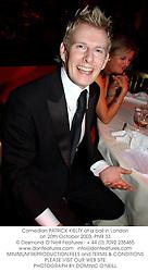 Comedian PATRICK KIELTY at a ball in London on 20th October 2003.PNR 33