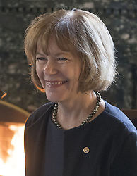 January 3, 2018 - Washington, District of Columbia, United States of America - United States Senator Tina Smith (Democrat of Minnesota) as she meets with US Senate Majority Leader Chuck Schumer (Democrat of New York) and US Senator Doug Jones (Democrat of Alabama) in Schumer's office in the US Capitol in Washington, DC on Wednesday, January 3, 2017..Credit: Ron Sachs / CNP (Credit Image: © Ron Sachs/CNP via ZUMA Wire)